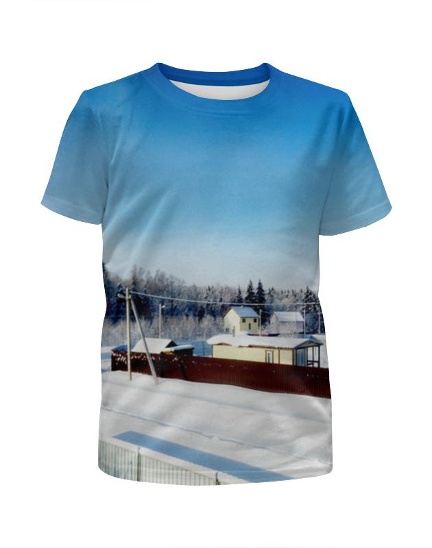 Футболка с полной запечаткой для девочек Printio Зима. мороз. солнце. футболка с полной запечаткой для девочек printio абстрактное красное геометрическое солнце