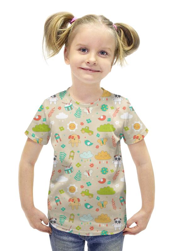 Футболка с полной запечаткой для девочек Printio Зверюшки футболка с полной запечаткой для девочек printio пртигр arsb