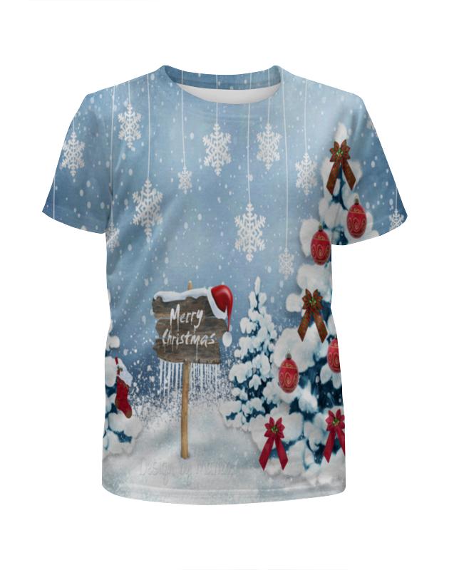 Футболка с полной запечаткой для девочек Printio Christmas цены онлайн