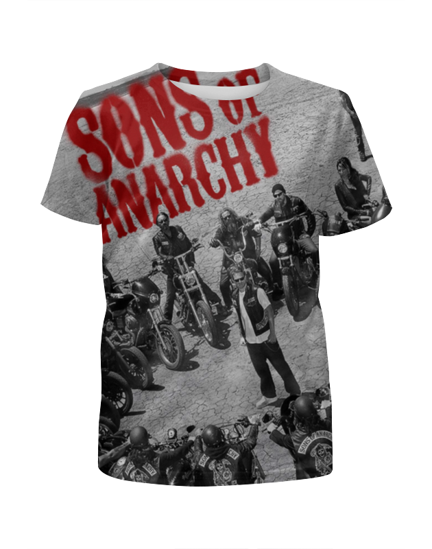 Футболка с полной запечаткой для девочек Printio Сыны анархии / sons of anarchy фартук с полной запечаткой printio сыны анархии