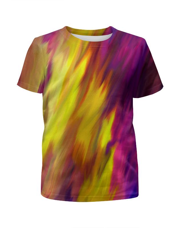 Футболка с полной запечаткой для девочек Printio Яркие краски футболка с полной запечаткой для девочек printio жидкие краски