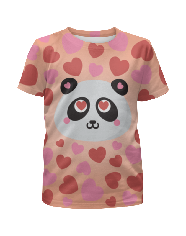 Футболка с полной запечаткой для девочек Printio Влюбленная панда футболка с полной запечаткой для девочек printio панда