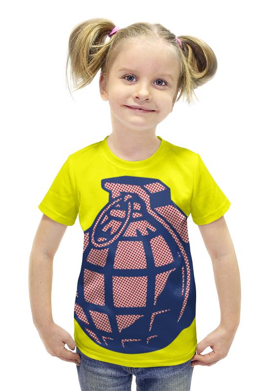 Футболка с полной запечаткой для девочек Printio Граната футболка с полной запечаткой для девочек printio пртигр arsb