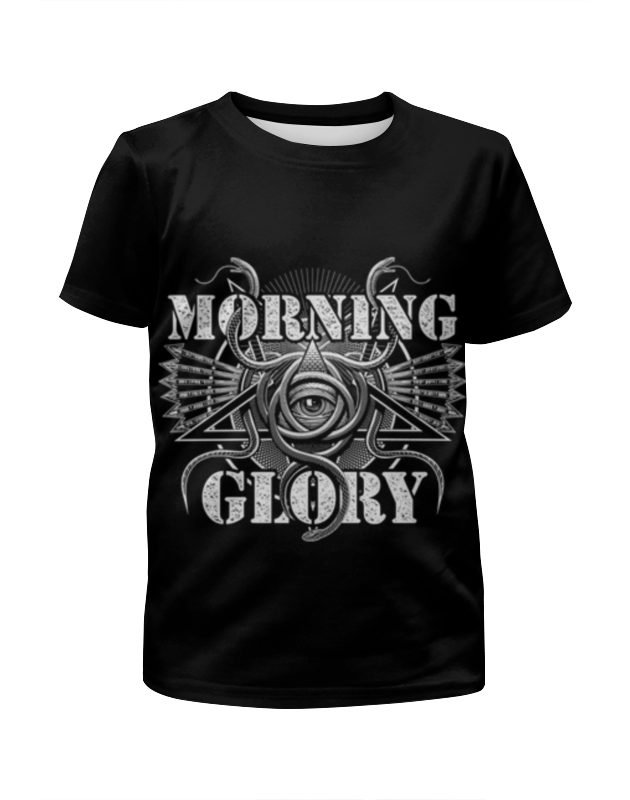 Футболка с полной запечаткой для девочек Printio Morning glory glory 1109 2015 light blue