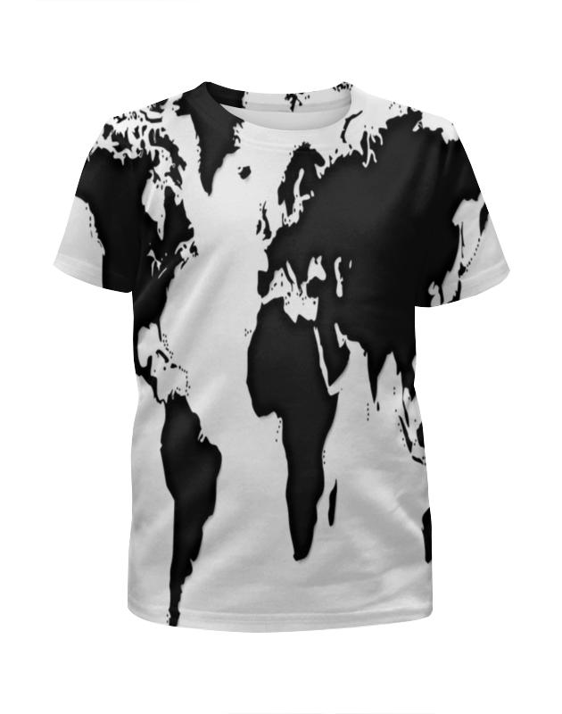 Футболка с полной запечаткой для девочек Printio Карта футболка с полной запечаткой для девочек printio мишка тед