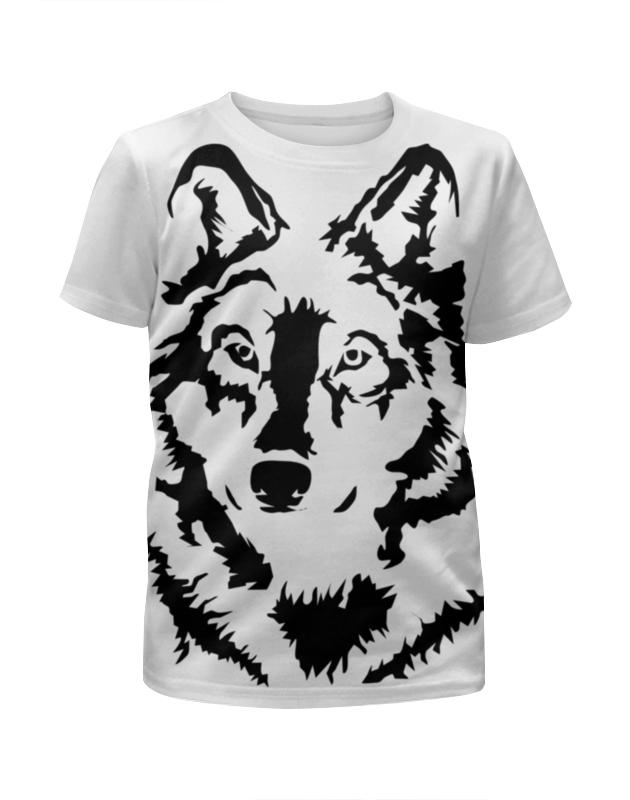 Футболка с полной запечаткой для девочек Printio Тату волк футболка с полной запечаткой для мальчиков printio тату волк