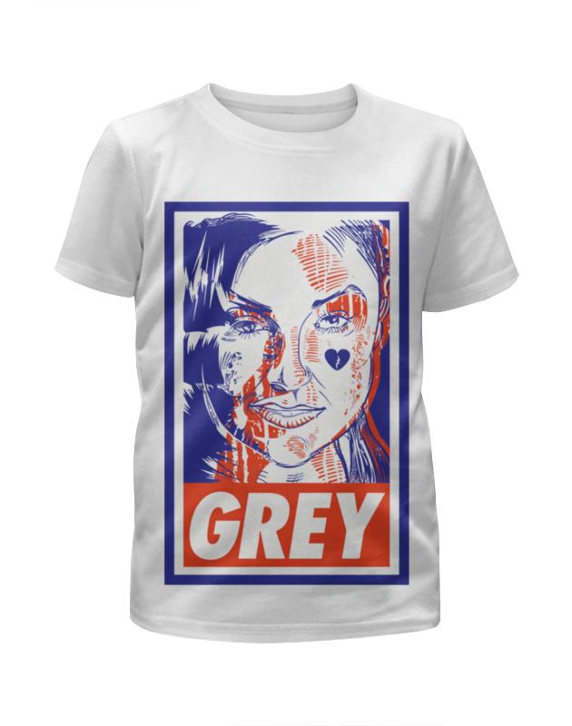 Футболка с полной запечаткой для девочек Printio Саша грей (grey) футболка с полной запечаткой мужская printio саша грей grey
