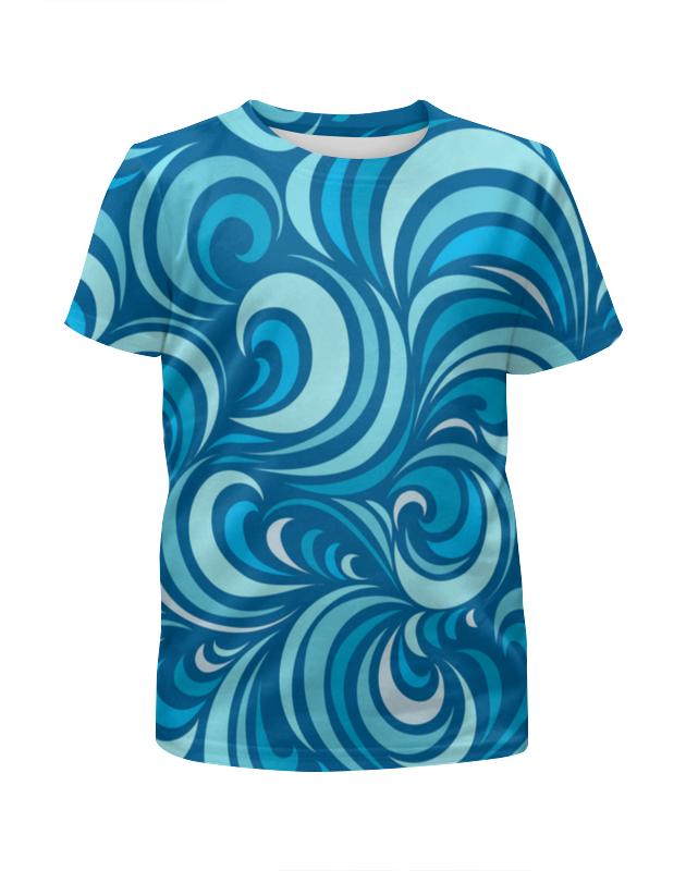 Футболка с полной запечаткой для девочек Printio Морской узор футболка с полной запечаткой для девочек printio пртигр arsb