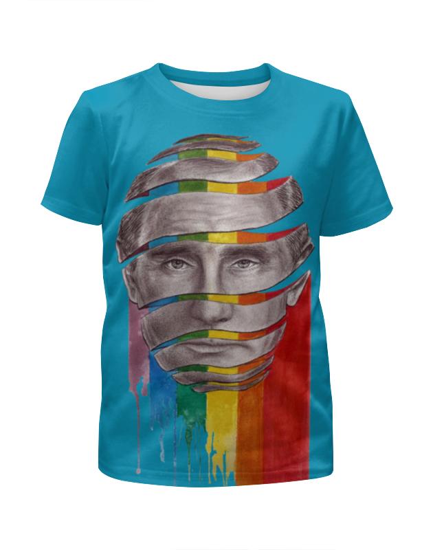Футболка с полной запечаткой для девочек Printio Путин владимир владимирович владимир гольдштейн первоапрельский велосипед