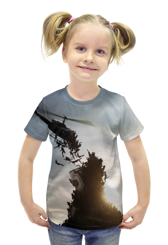 Футболка с полной запечаткой для девочек Printio World war z футболка с полной запечаткой для девочек printio война миров z