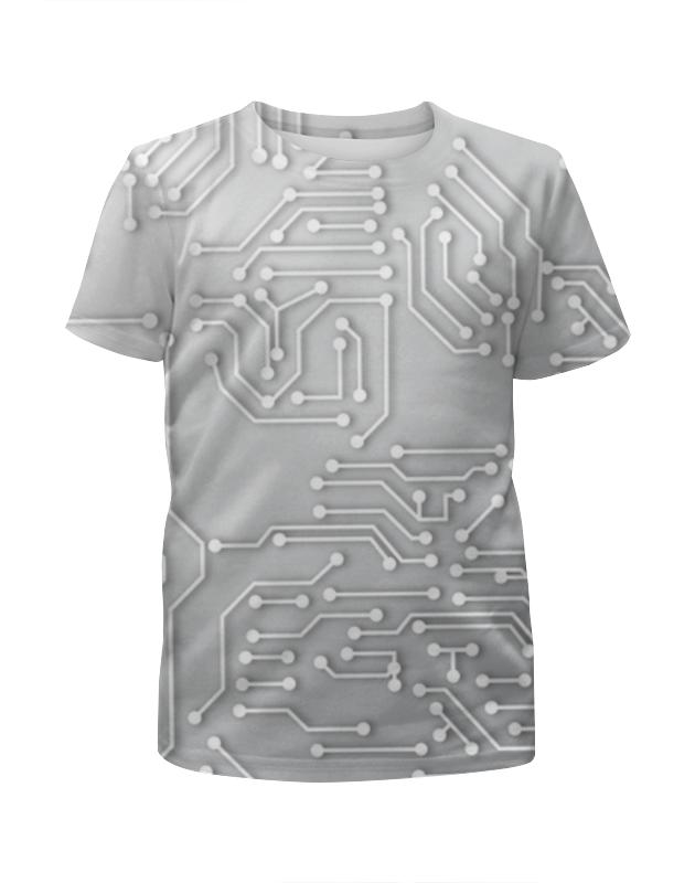 Футболка с полной запечаткой для девочек Printio Микросхема футболка с полной запечаткой для девочек printio микросхема
