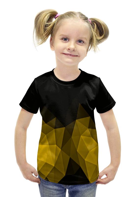 Футболка с полной запечаткой для девочек Printio Черно-желтый футболка с полной запечаткой для девочек printio пртигр arsb