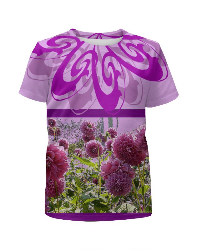 Футболка с полной запечаткой для девочек Printio Цветочек. футболка с полной запечаткой для девочек printio на отдых