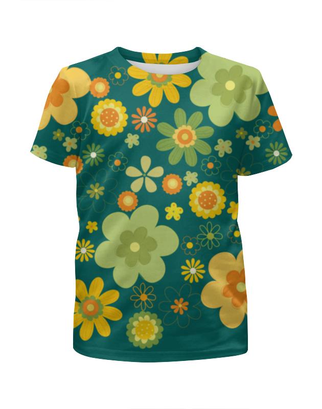Футболка с полной запечаткой для девочек Printio Хиппи футболка с полной запечаткой женская printio хиппи енот