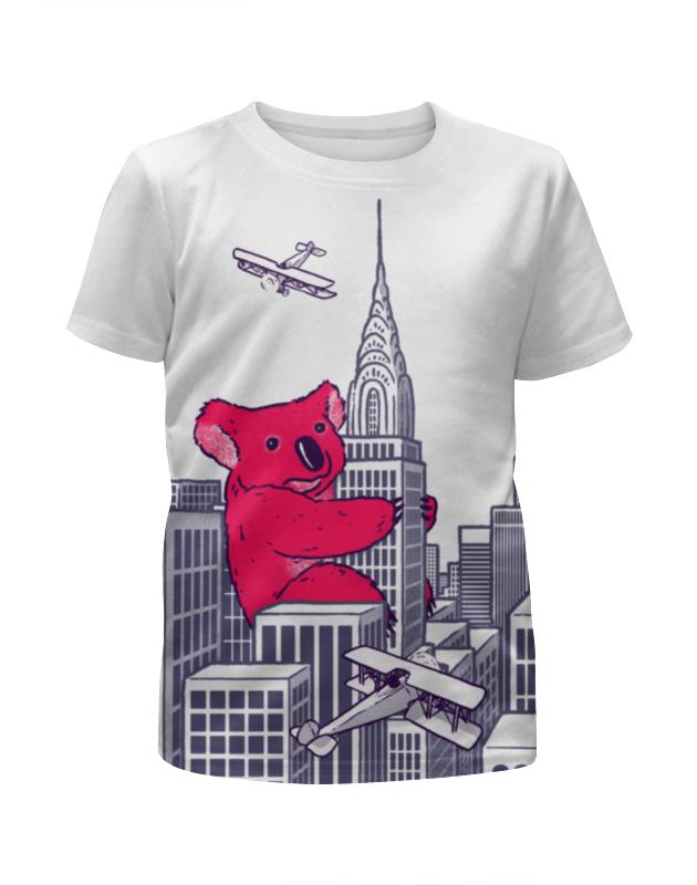 Футболка с полной запечаткой для девочек Printio Коала футболка с полной запечаткой для девочек printio мишка тед