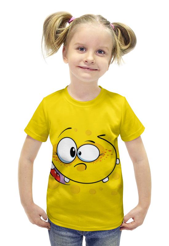 Футболка с полной запечаткой для девочек Printio Смайлик футболка с полной запечаткой для девочек printio пртигр arsb