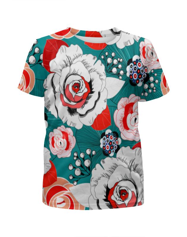 Футболка с полной запечаткой для девочек Printio Fashion flower футболка с полной запечаткой для девочек printio пртигр arsb