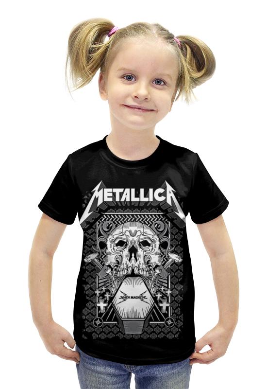 Футболка с полной запечаткой для девочек Printio Metallica футболка с полной запечаткой для девочек printio пртигр arsb