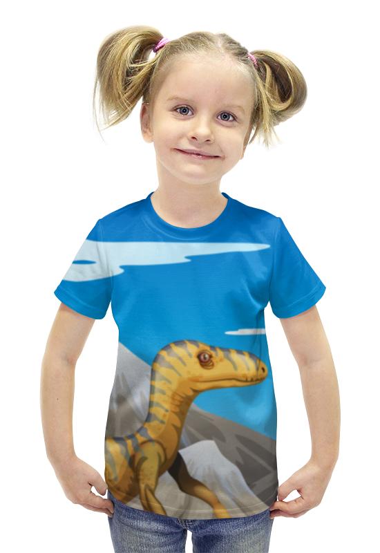 Футболка с полной запечаткой для девочек Printio Динозавр футболка с полной запечаткой для девочек printio пртигр arsb
