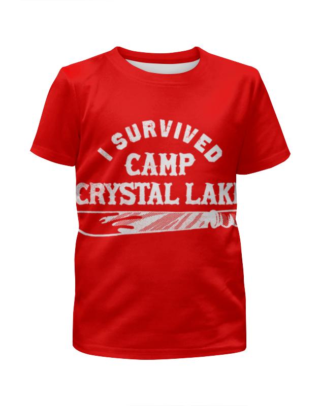 Футболка с полной запечаткой для девочек Printio Camp crystal lake рюкзак oregon camp raquette lake green