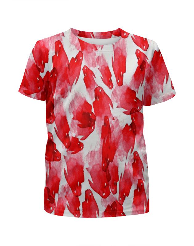 Футболка с полной запечаткой для девочек Printio Красные пятна футболка с полной запечаткой для девочек printio пртигр arsb