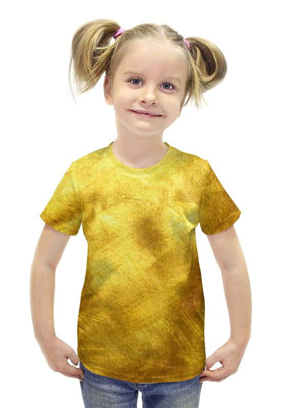 Футболка с полной запечаткой для девочек Printio Золотая футболка с полной запечаткой для девочек printio пртигр arsb