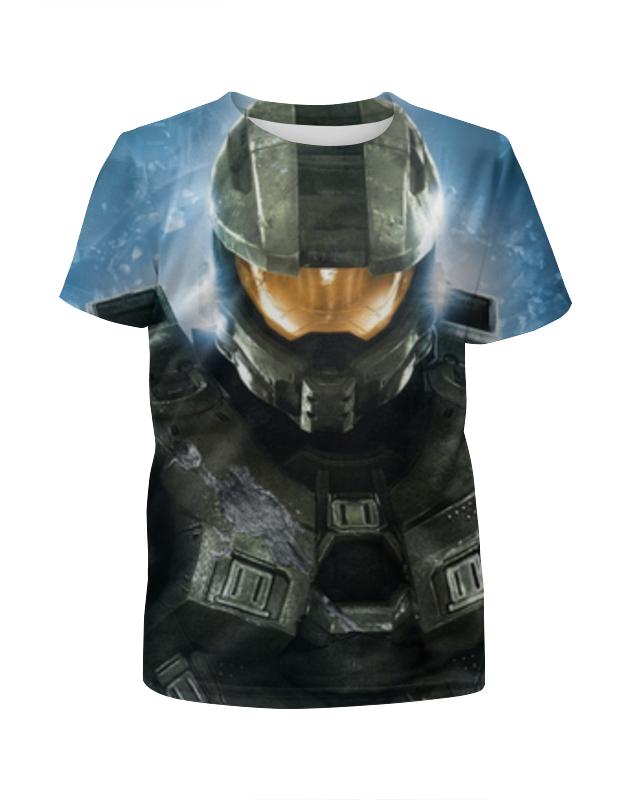все цены на Футболка с полной запечаткой для девочек Printio Halo 5 , игры , halo , хало онлайн