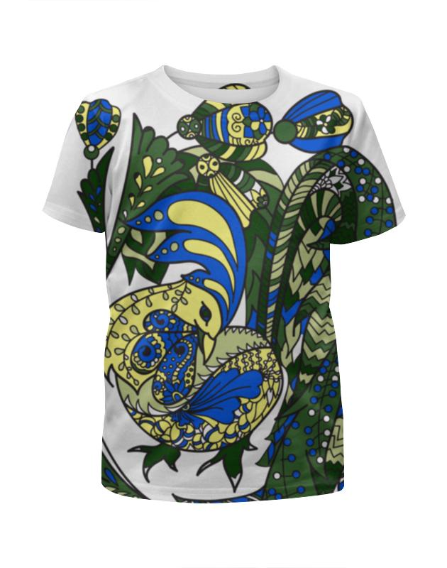 Футболка с полной запечаткой для девочек Printio Петушиное разноцветие футболка print bar петушиное разноцветие
