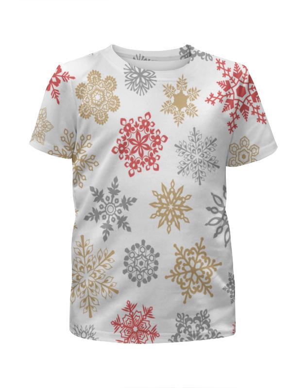 Футболка с полной запечаткой для девочек Printio Зимние кружева футболка с полной запечаткой для девочек printio пртигр arsb