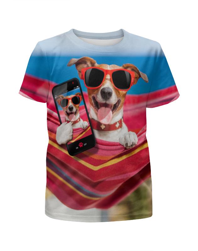 Футболка с полной запечаткой для девочек Printio Собака футболка с полной запечаткой для девочек printio собака
