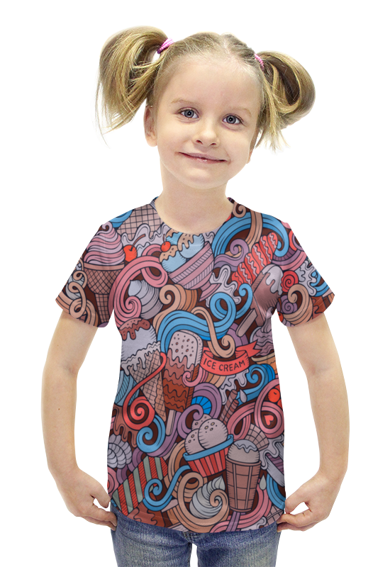 Футболка с полной запечаткой для девочек Printio Мороженое футболка с полной запечаткой для девочек printio пртигр arsb