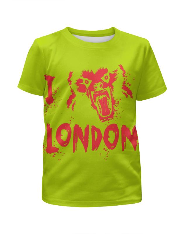 Футболка с полной запечаткой для девочек Printio Я люблю лондон сейф я люблю лондон