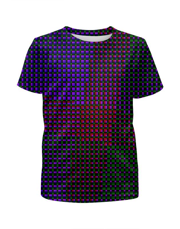 Футболка с полной запечаткой для девочек Printio Glitch art (индиго) футболка с полной запечаткой для девочек printio glitch art круг в квадрате