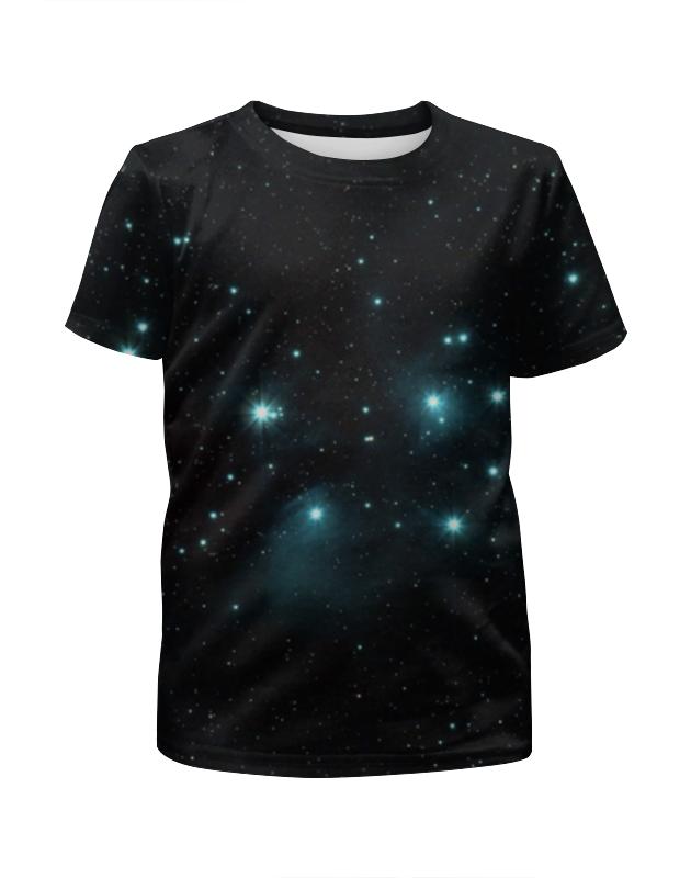 Футболка с полной запечаткой для девочек Printio Звездное скопление футболка с полной запечаткой для девочек printio пртигр arsb