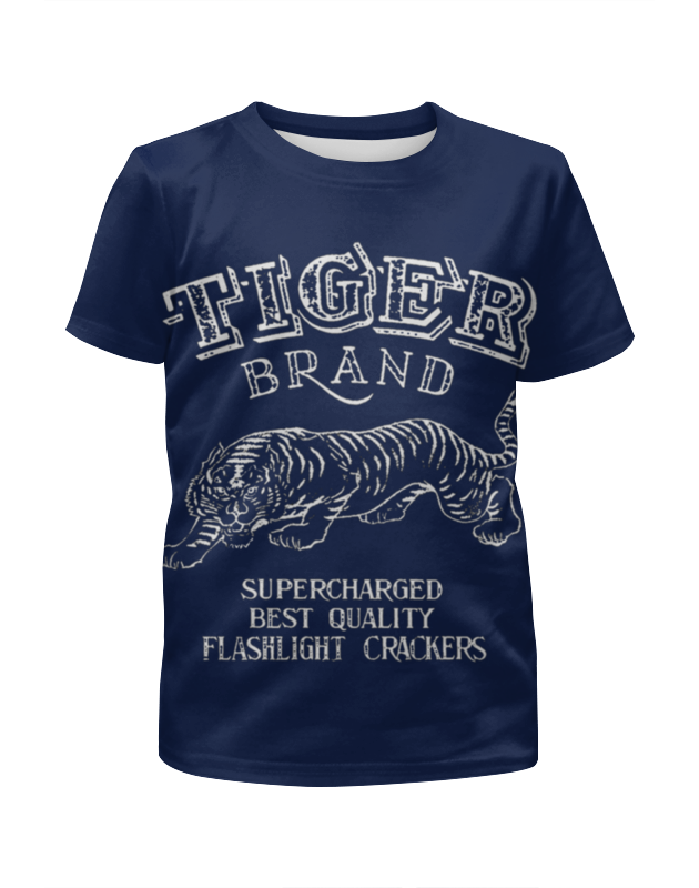 Футболка с полной запечаткой для девочек Printio Tiger brand слюнявчик для девочек brand