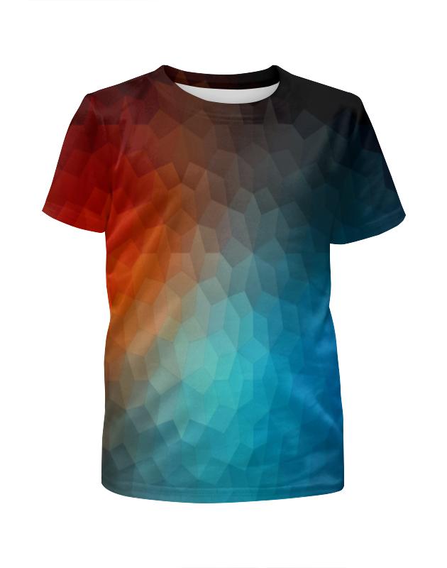 Футболка с полной запечаткой для девочек Printio Polygon color футболка с полной запечаткой для девочек printio пртигр arsb