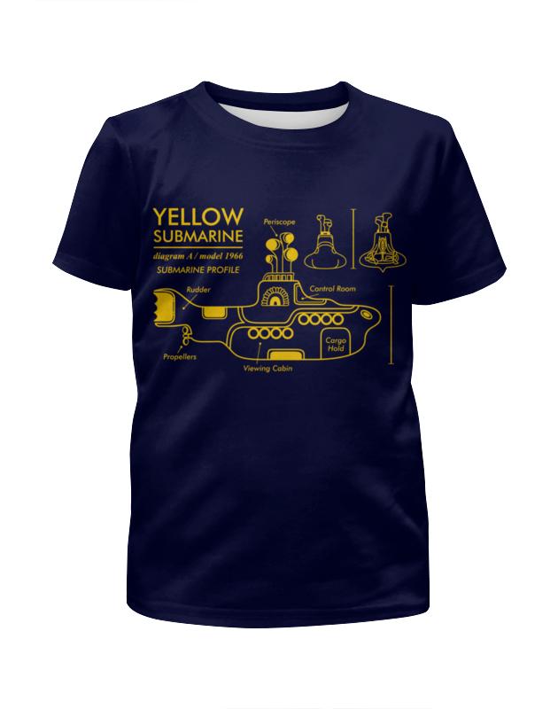 Футболка с полной запечаткой для девочек Printio Yellow submarine цена и фото
