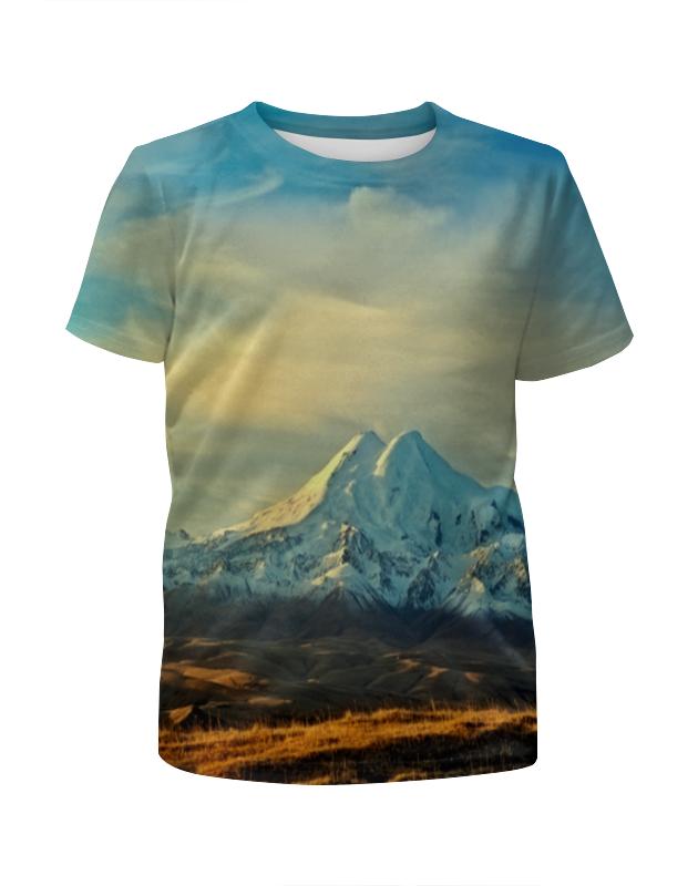 Футболка с полной запечаткой для девочек Printio Горная долина футболка с полной запечаткой мужская printio горная тропа