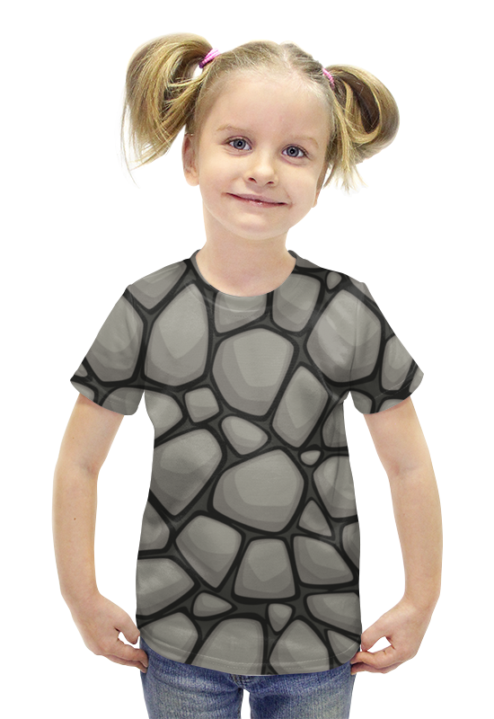 Футболка с полной запечаткой для девочек Printio Камни футболка с полной запечаткой для девочек printio пртигр arsb