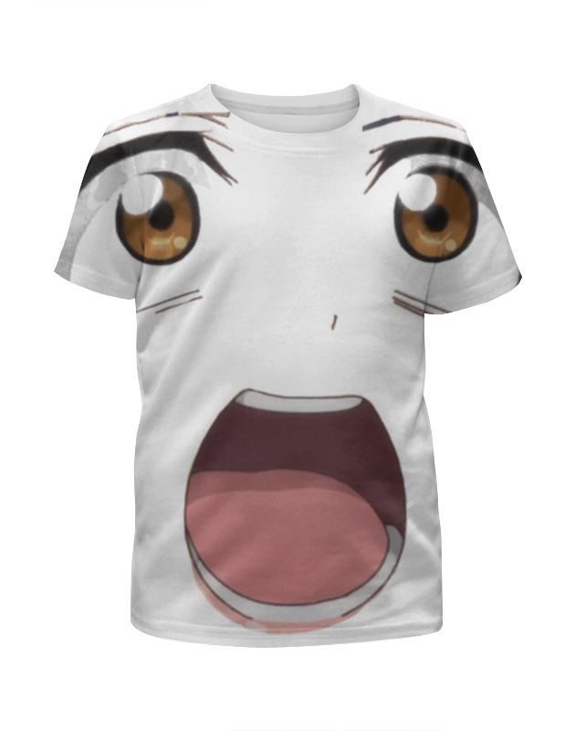 Футболка с полной запечаткой для девочек Printio Лицо аниме футболка с полной запечаткой printio аниме пейзаж