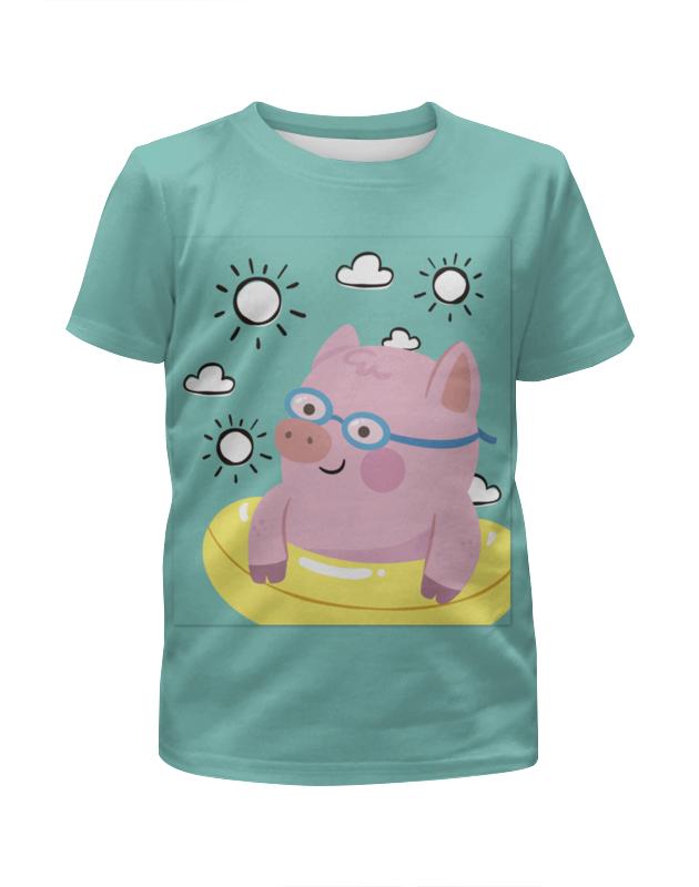 Футболка с полной запечаткой для девочек Printio Поросёнок футболка с полной запечаткой для девочек printio шреддер