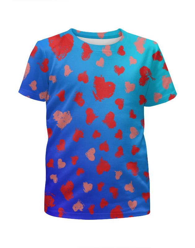 Футболка с полной запечаткой для девочек Printio Узор сердечек леггинсы printio узор сердечек