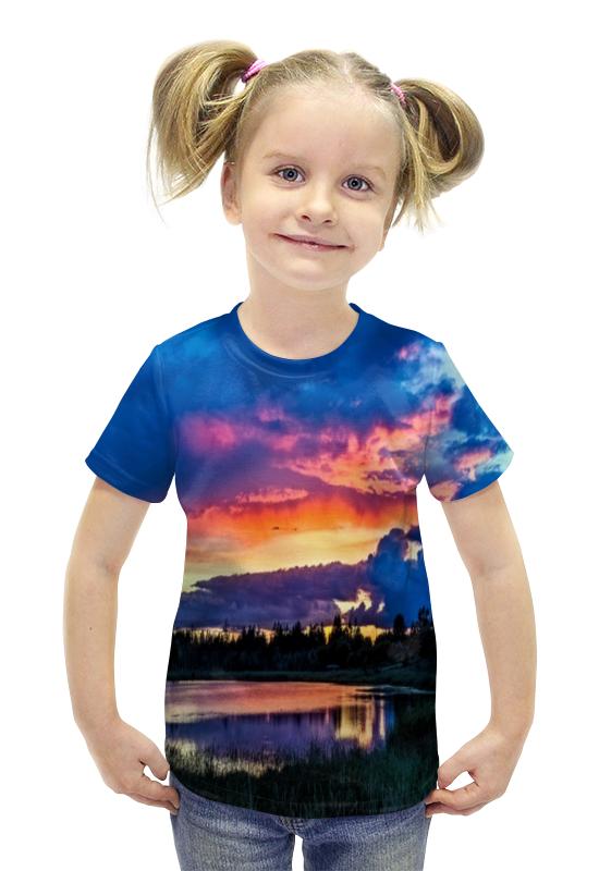 Футболка с полной запечаткой для девочек Printio Закат футболка с полной запечаткой для девочек printio spawn
