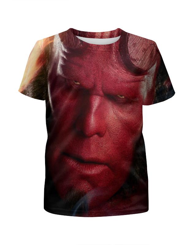 Футболка с полной запечаткой для девочек Printio Хеллбой / hellboy футболка с полной запечаткой женская printio хеллбой hellboy