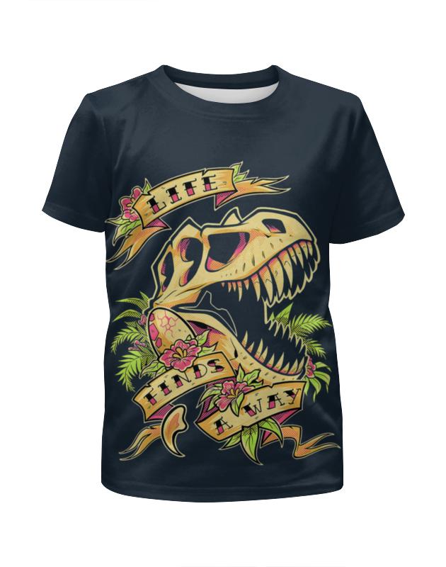 Футболка с полной запечаткой для девочек Printio Череп динозавра футболка с полной запечаткой для девочек printio spawn