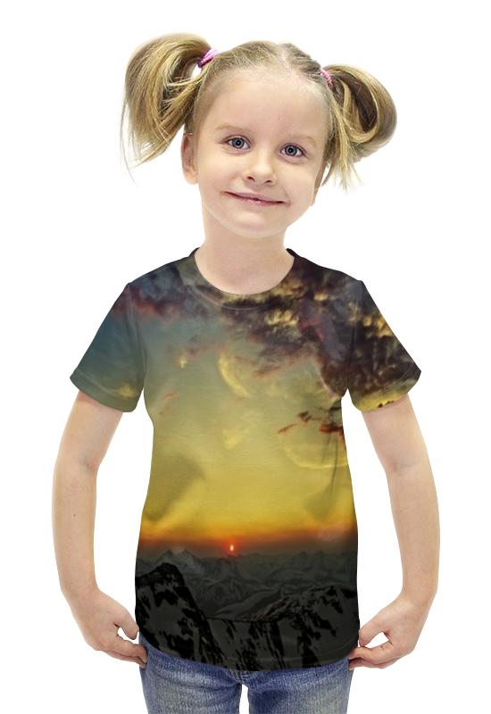 Футболка с полной запечаткой для девочек Printio Закат футболка с полной запечаткой для девочек printio пртигр arsb