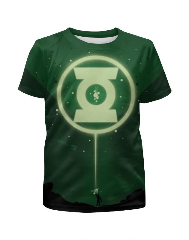 Футболка с полной запечаткой для девочек Printio Green lantern/зеленый фонарь цена и фото