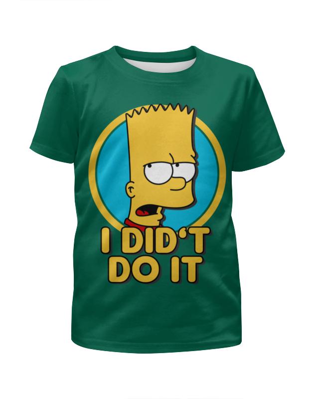Printio Барт симпсон. я этого не делал футболка с полной запечаткой для девочек printio не ходи за мной я заблудился