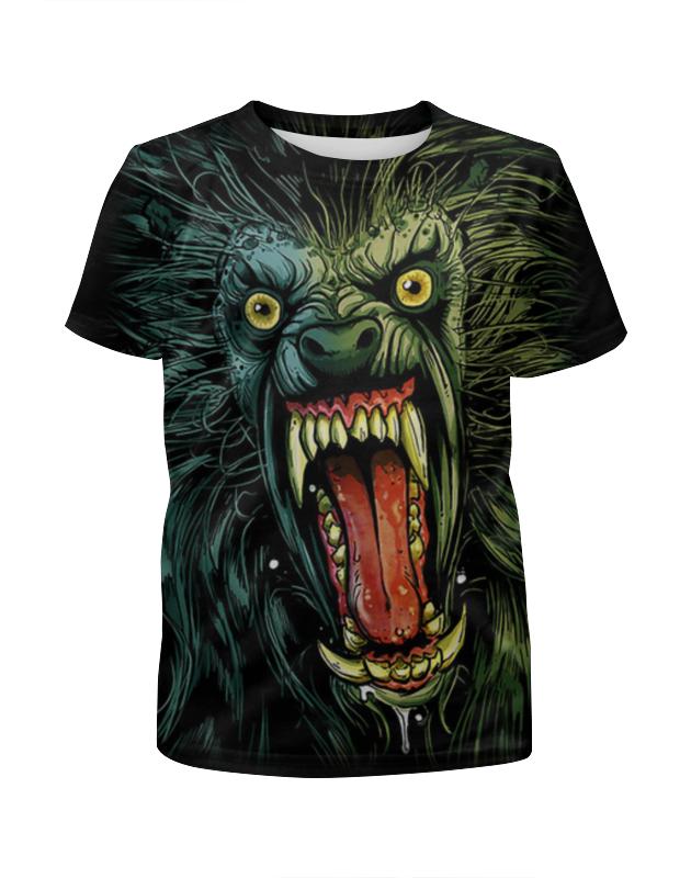 Футболка с полной запечаткой для девочек Printio Оборотень/werewolf футболка с полной запечаткой для мальчиков printio werewolf