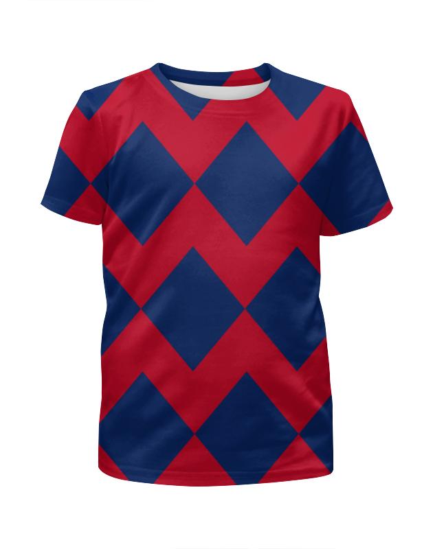Футболка с полной запечаткой для девочек Printio Цветные ромбы футболка с полной запечаткой для девочек printio пртигр arsb